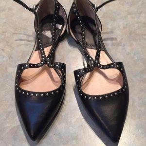 Mango black faux leather shoes